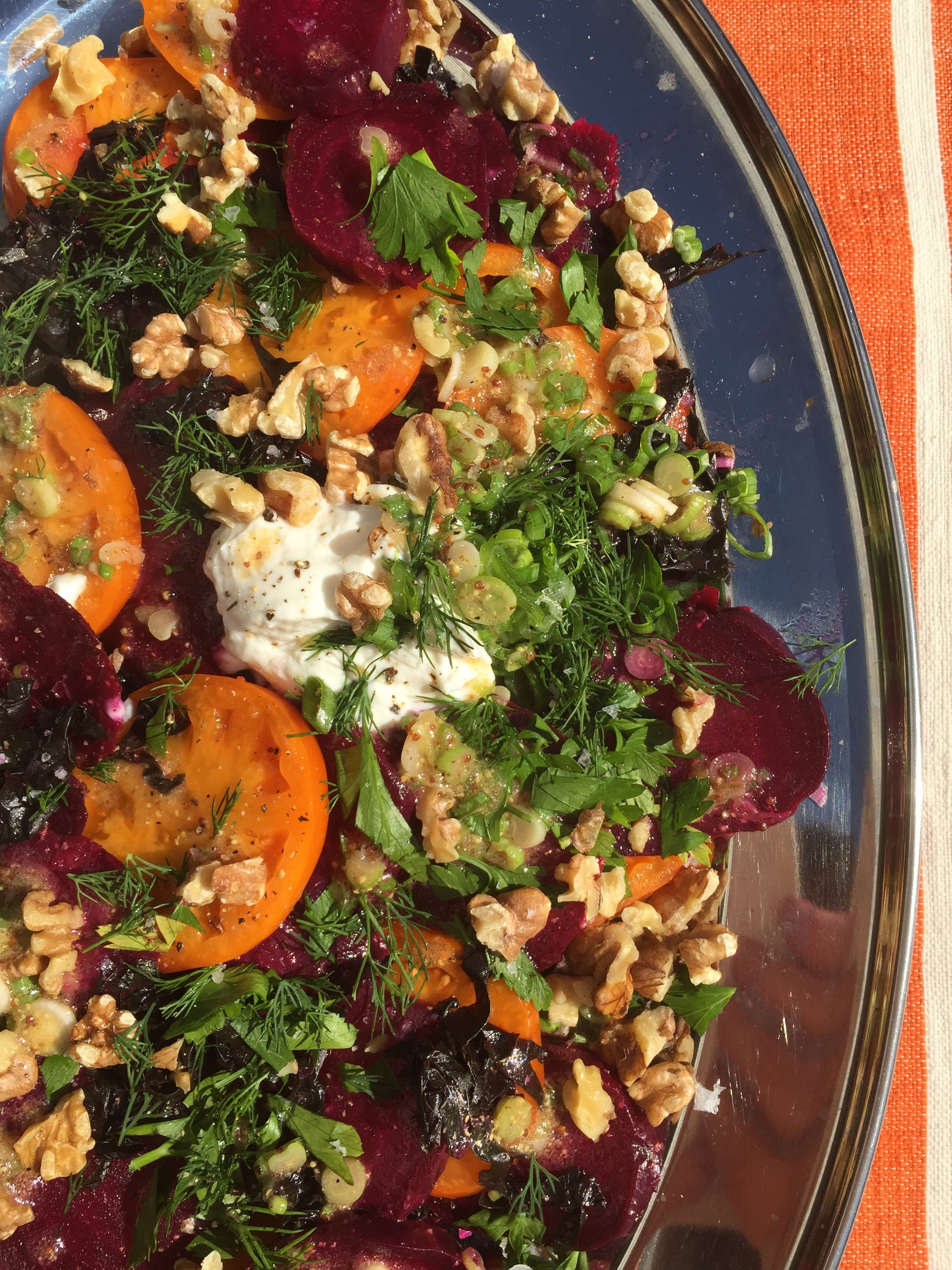 Beets and beet greens team up with tomatoes for a delicious salad ...